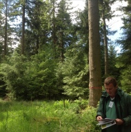 Gary Kerr - Forest Research led a talk about natural and artificial regeneration of continuous covers forests
