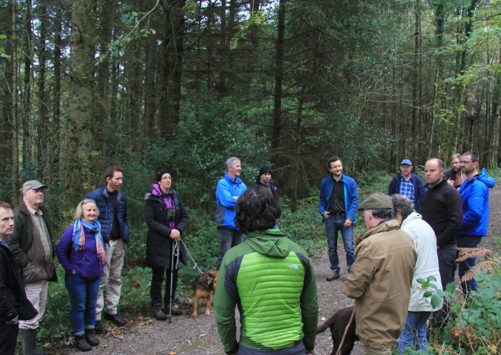 The day was lead by forester Jonathan Spazzi (centre right) with contributions from other members and forest owners, forest harvesters and forestry students.
