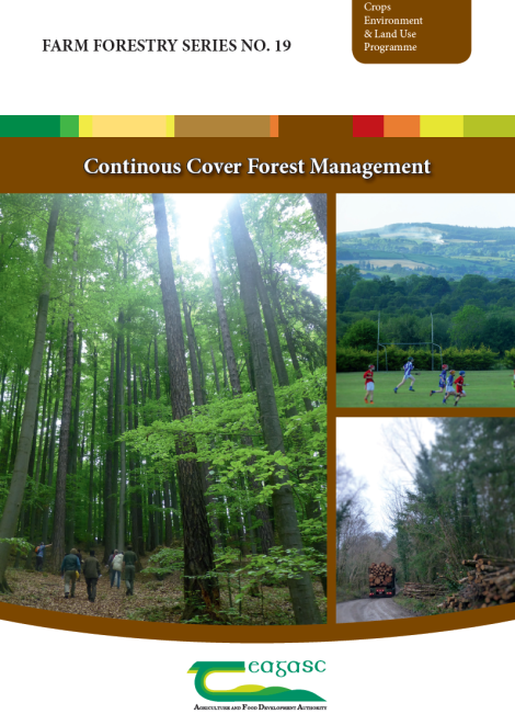 Launch of first Teagasc booklet on Continuous Cover Forestry at ProSilva Ireland Raheen Forest, Tuamgreany, East Clare