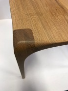 Detail of oak chair by Conor White, Co. Meath.