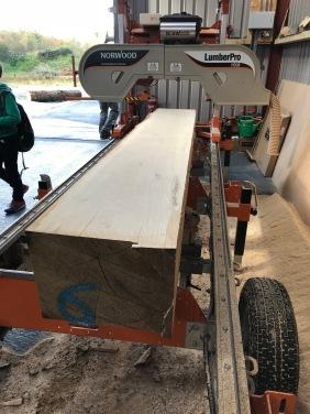 Letterfrack portable sawmill.